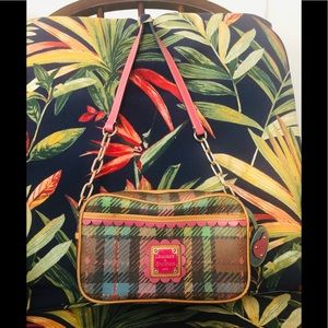vintage Dooney Burke camera bag in plaid